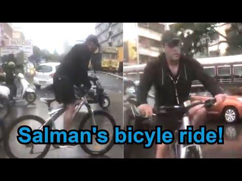 watch:-salman-khan-rides-bicycle-in-mumbai-rains