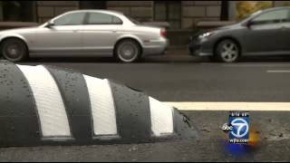 Zebra-stripe speed bumps in D.C. prevent illegal U-turns