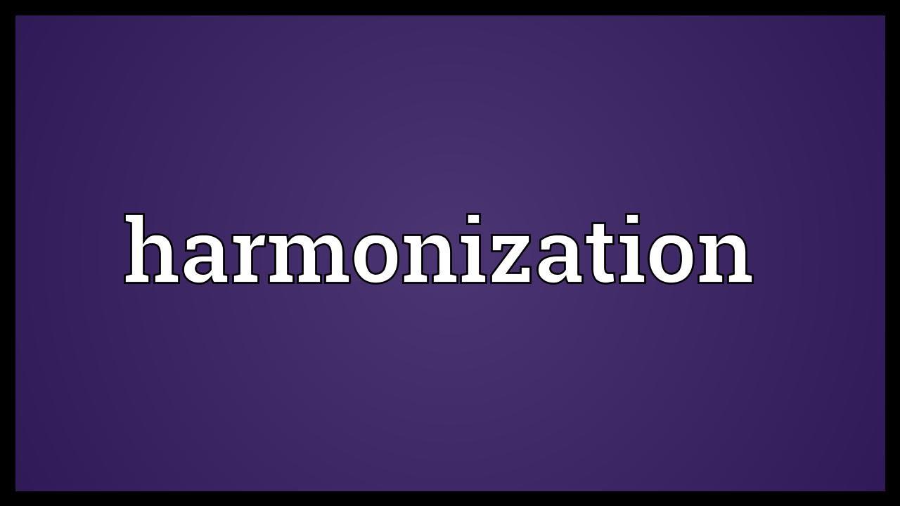 Harmonization Meaning  YouTube