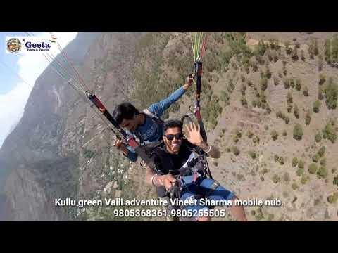 India tourist places Paragliding Kullu Manali part 2 .kullu green valley adventure