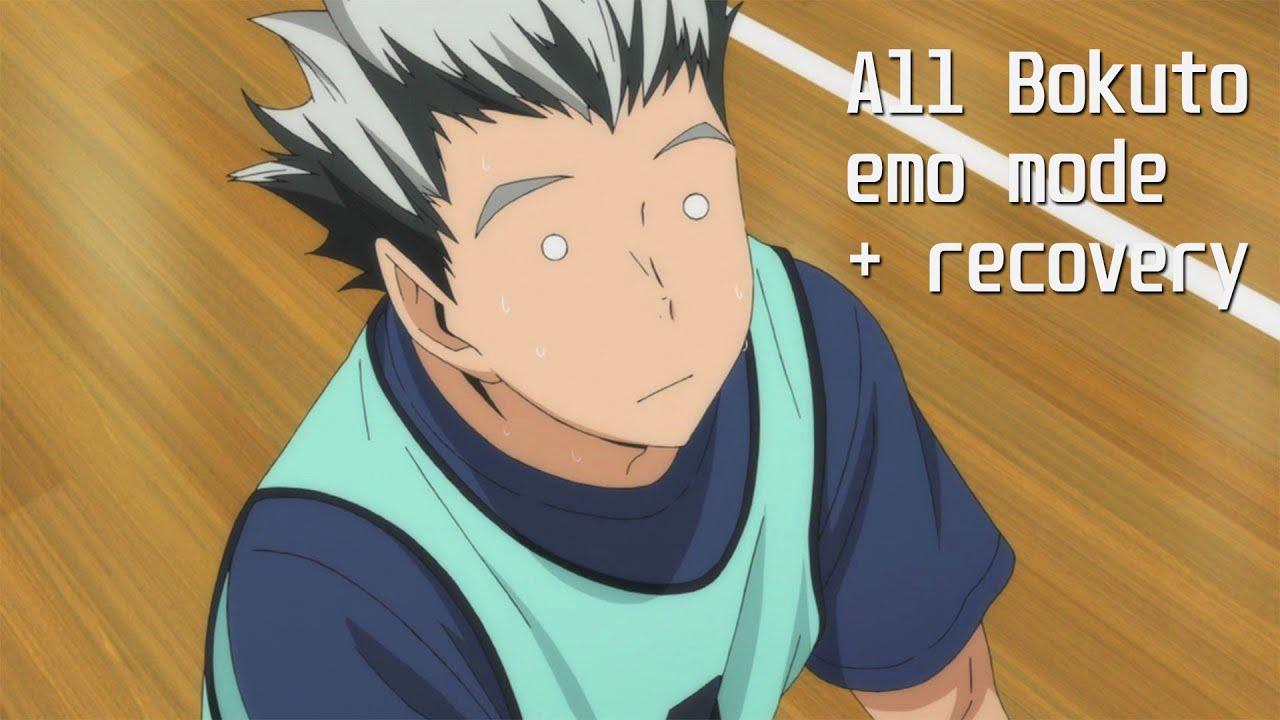 all of bokuto s emo mode recovery haikyuu