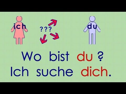 Deutsch lernen Grammatik 13: mich - dich - den - einen ... (Akkusativ)