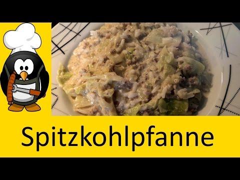 Spitzkohlpfanne mit Hackfleisch kochen - Rezept