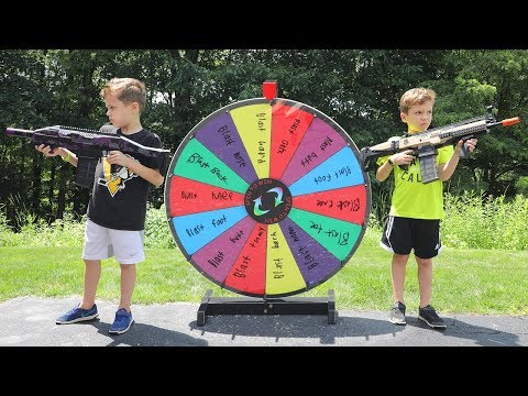 Nerf War :  The Mystery Wheel Showdown (Twin Toys) - Видео онлайн