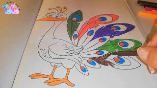 How To Paint with Birds Coloring Learn Color
