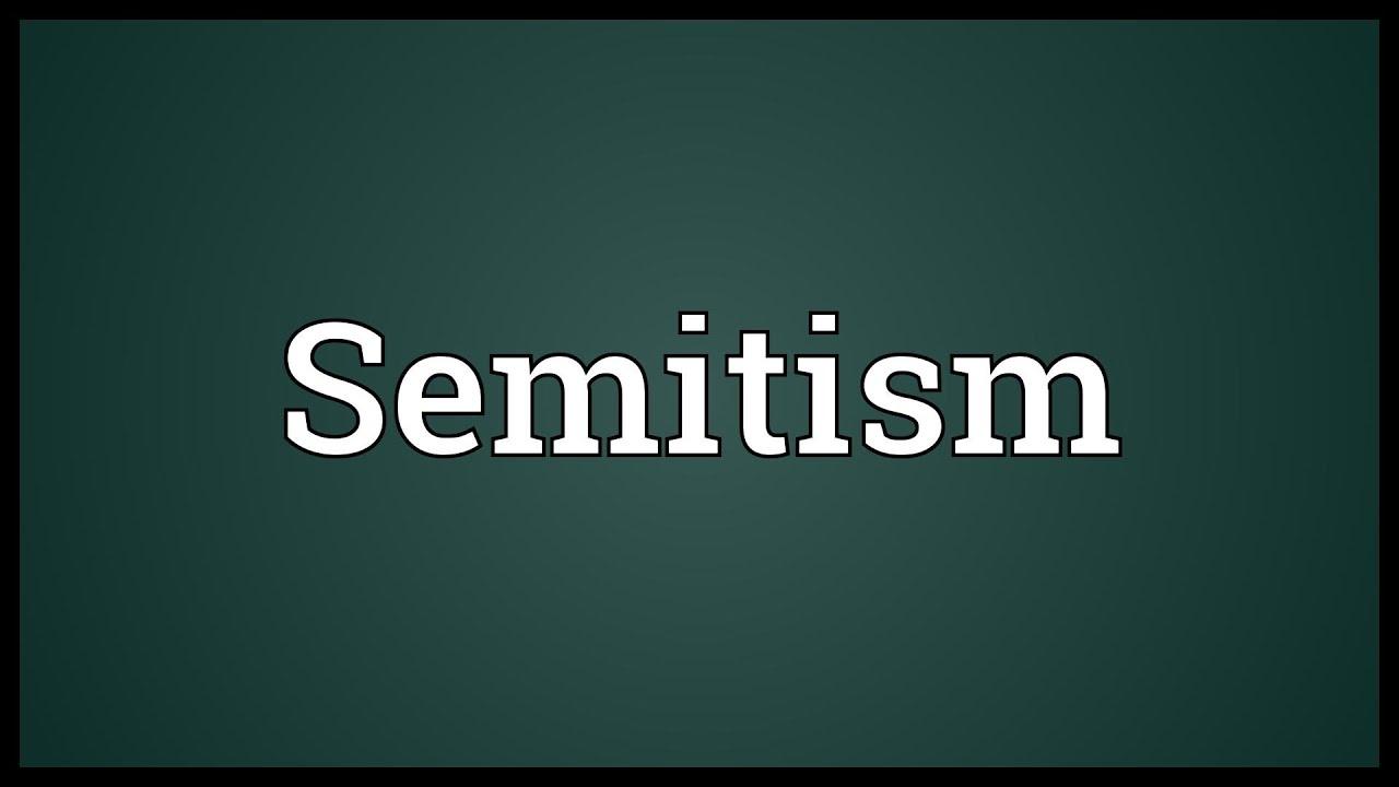 Semitism Meaning Youtube