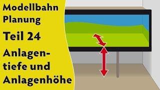 Modellbahn: Planung Teil 24 – Anlagentiefe und Anlagenhöhe (Beispiele in H0 & Spur 0) [subtitled]