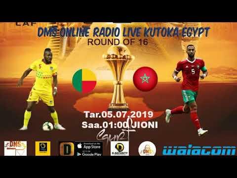 AFCON 2019  MOROCCO VS BENIN via DMS Radio