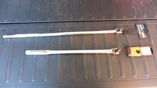 "Capri Tools 24""  and  Craftsman 18"" Breaker Bar 1/2"" Drive"