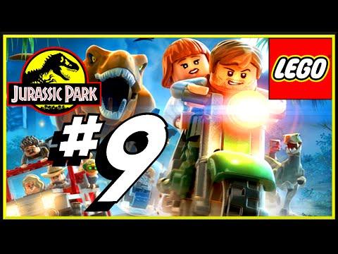 LEGO Jurassic World Let's Play 9 Ellie & Muldoon VS Raptor