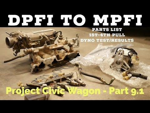DPFI to MPFI Parts List | D15B2 Pull 1st-4th Gear | Dyno Test & Results | Project Civic Wagon - EF