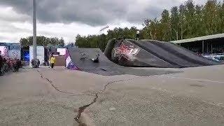 Экстрим-шоу возле «Трактора» в честь дня города Челябинска