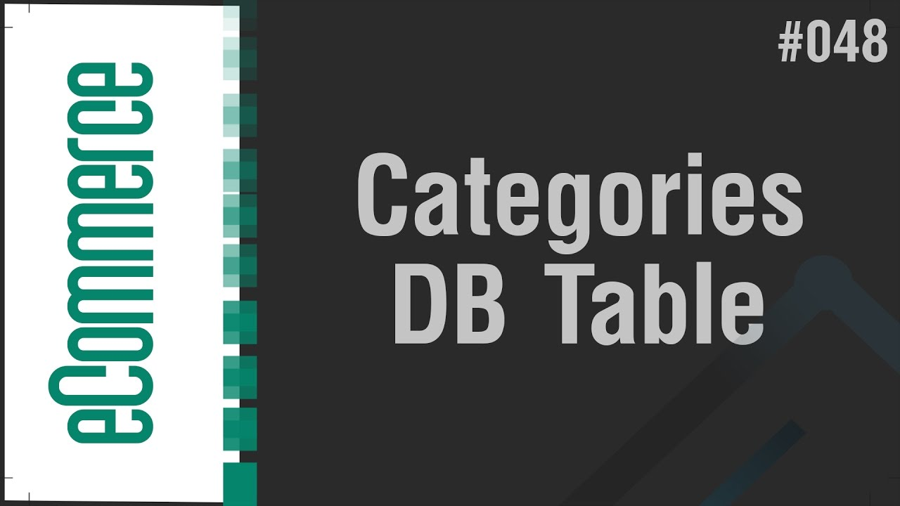 eCommerce Shop in Arabic #048 - Categories - Create Database Table