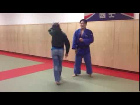 Judo girl gets thrown in NYC...