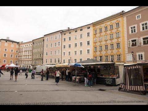 Morning market at Universitätsplatz (University Square), Salzburg, Austria