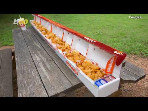 James Burlander - Popeyes Announces 6-Foot, 10-Inch 'Wingspan Box'