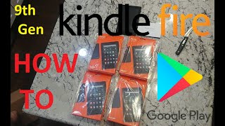 Install Google Play Store On All New Kindle Fire 7 9th Generation!!