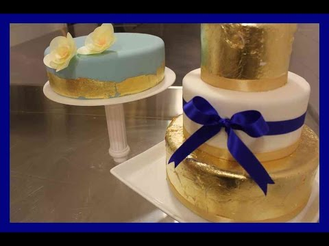fondant torten vergolden blattmetal auf fondanttorten blattgold torte von kuchenfee youtube. Black Bedroom Furniture Sets. Home Design Ideas
