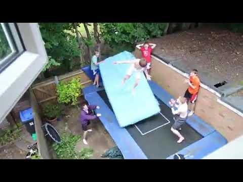 AJ - Greatest Backyard Trampoline Exhibition EVER?!