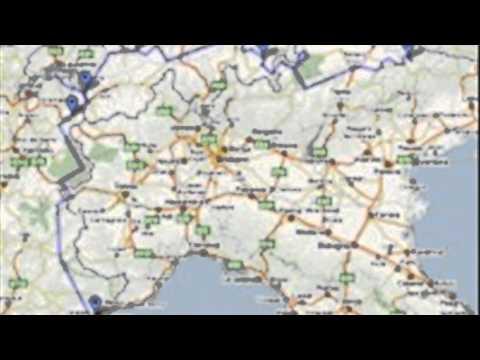 cortina italy map YouTube