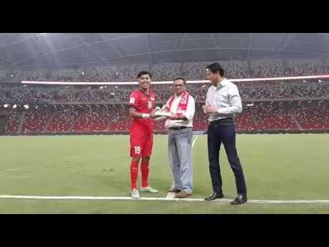 Lions striker Khairul Amri enters centurion club