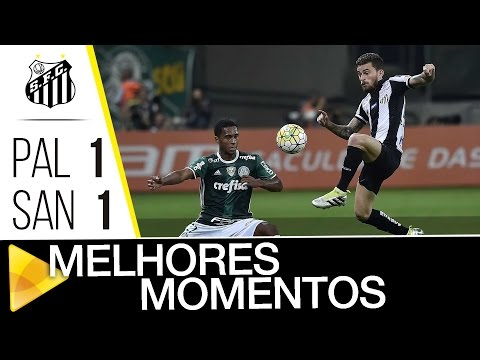 Palmeiras 1 x 1 Santos | MELHORES MOMENTOS | Brasileirão (12/07/16)