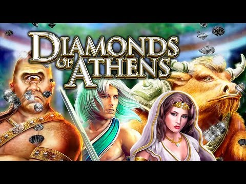 Diamonds of Athens Slot Machine *LIVE PLAY* $4 Max Bet Bonus! - 동영상