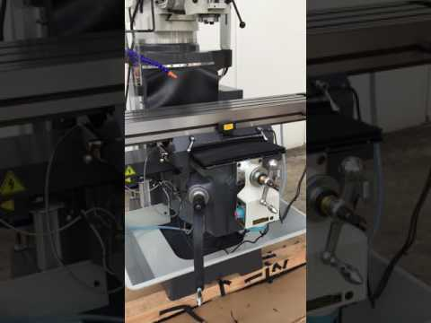 SM-KD4VS. Turret Mill Steelmaster. Pwr Draw Bar, ISO40 Spindle, 2 Axis Power Feed, 3 Axis DRO.