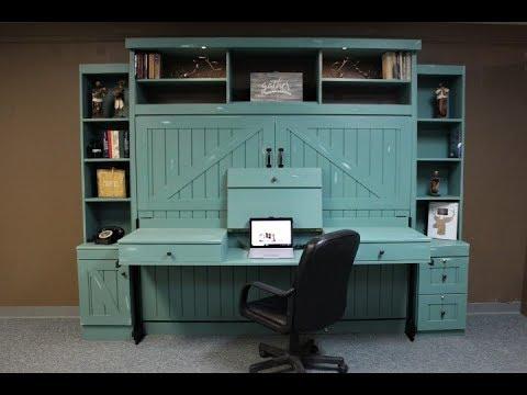 Barn Door Murphy Bed With Stay Level Vanity Youtube
