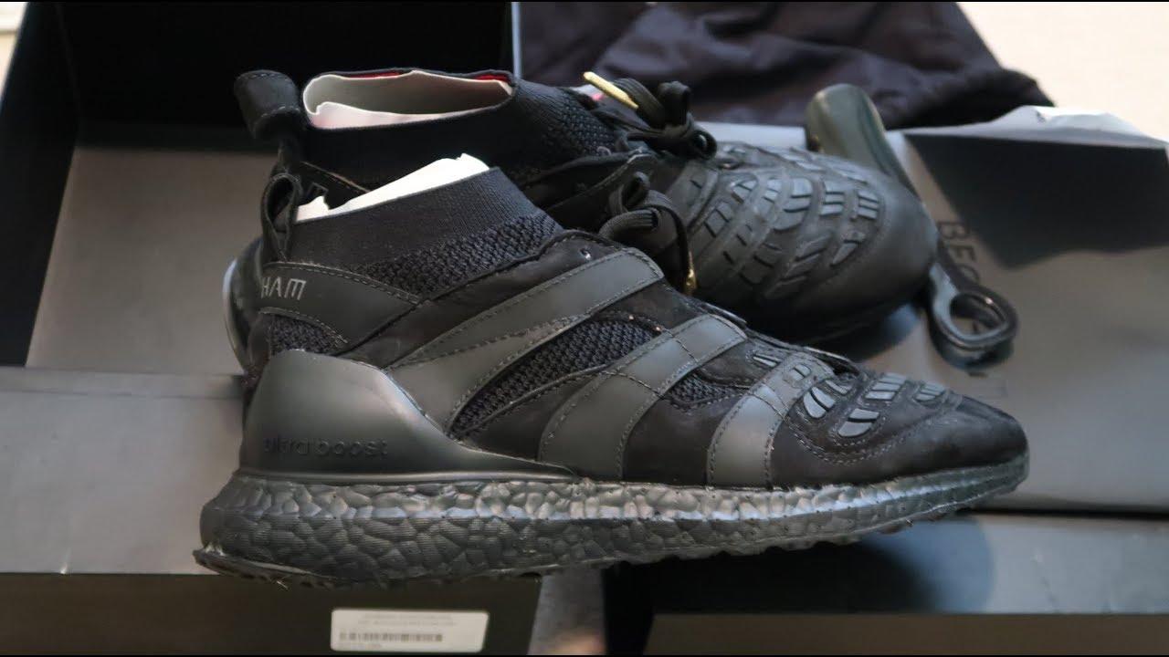meet 4c7a7 77f51 David Beckham x Predator Accelerator Ultra Boost Sneaker Unboxing