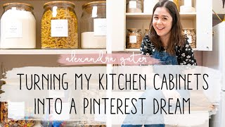 ORGANIZING MY KITCHEN CABINETS INTO A PINTEREST DREAM | ORGANIZE WITH ME