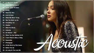 Best Ballad Acoustic Love Songs Cover 2021 - Greatest Hits Guitar Cover Of Popular Songs Of All Time