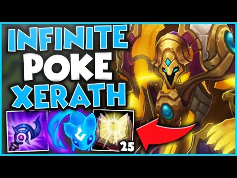 #1 XERATH WORLD ULTIMATE POKE BUILD (INFINITE HARASS) - League of Legends