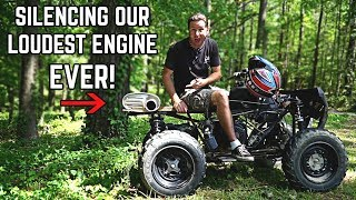Mustang 5.0 Muffler on a 420cc ATV!