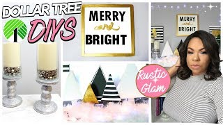 GLAM DOLLAR TREE DIYS 2017! RUSTIC GLAM CHRISTMAS DECOR FROM THE DOLLAR STORE | Sensational Finds
