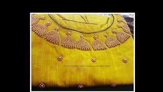 Most Beautiful Jhumki/Kammal Beads Design Normal Stitching Needle - Same Like Aari/ Maggam work
