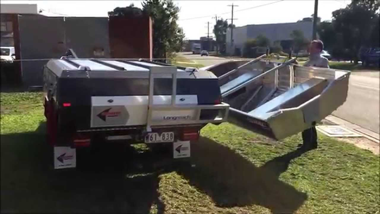 Simple Southern Cross Camper Trailers Complete With Boat Rack Accessory