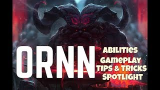 ORNN Abilities, Gameplay, Tips and Tricks, Spotlight | The Fire Below The Mountain - LOL PRO PLAY