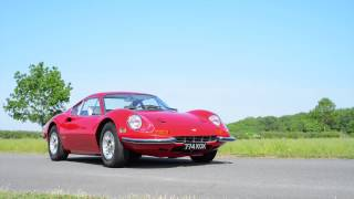 Ferrari Dino 246 GT - drive by and walkaround - The Silverstone Classic Sale