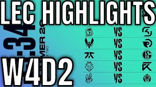 LEC Highlights ALL GAMES Week 4 Day 2 Summer 2020
