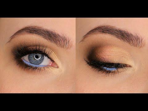 Видео уроки макияж для голубых глаз