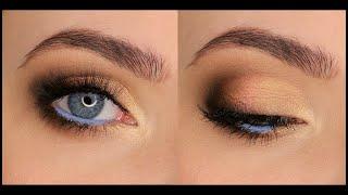 Макияж для голубых глаз в карандашной технике