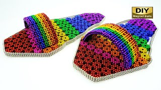DIY - How To Make Slippers Shoes from Magnetic Balls (Satisfying) ASMR 4K [DIY Magnet Balls]