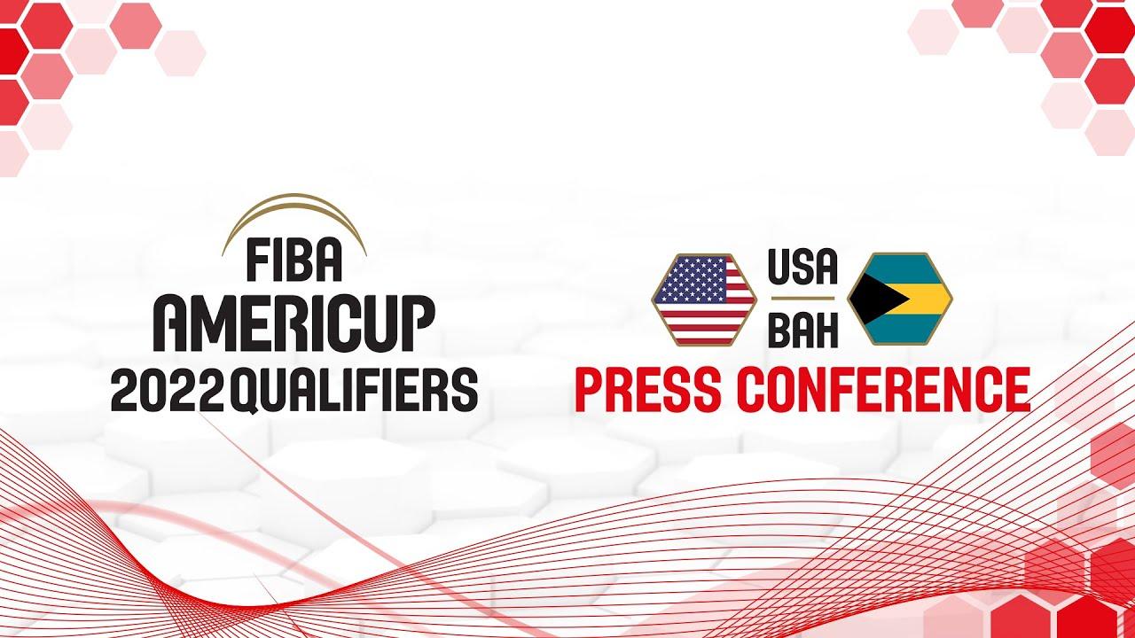 USA v Bahamas - Press Conference - FIBA AmeriCup Qualifiers 2022