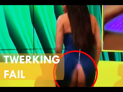 Mujer hace twerking en directo TV se le rompe la falda y se le ve el culo