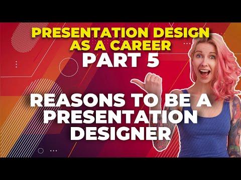 Reasons to become a presentation designer🚀Presentation Design as a Career : part 5🚀