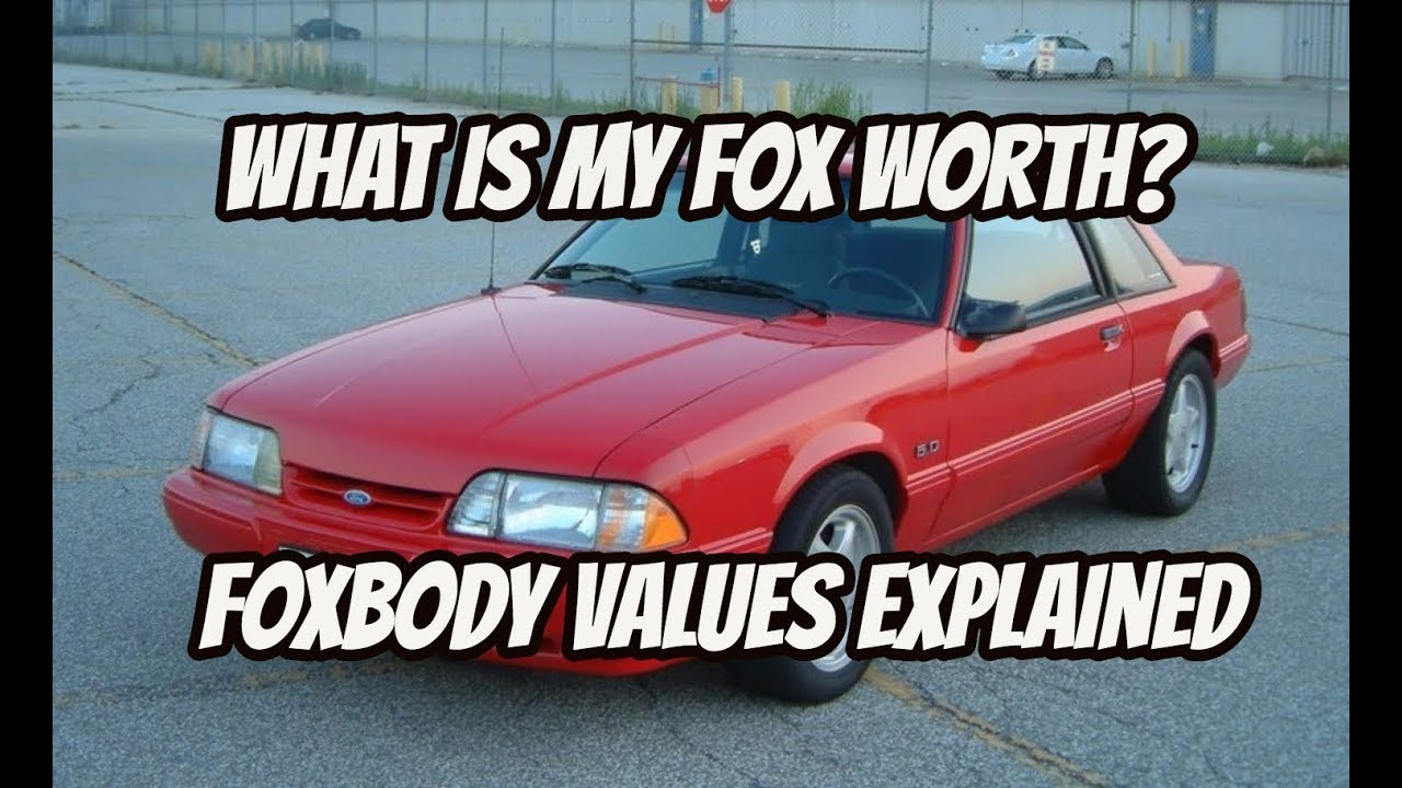 What is a foxbody worth? I give you my take on what values are doing ...