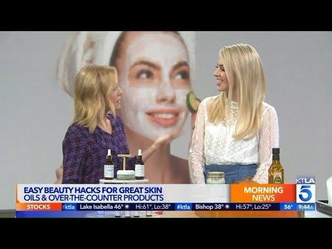 Alana On KTLA To Explain Easy Beauty Hacks