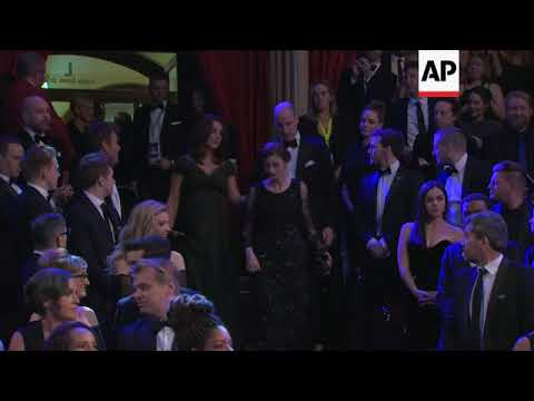 Prince William and Duchess of Cambridge given royal welcome at BAFTAs