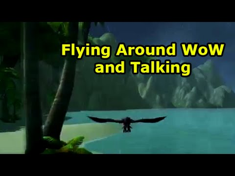 Flying around wow and talking youtube